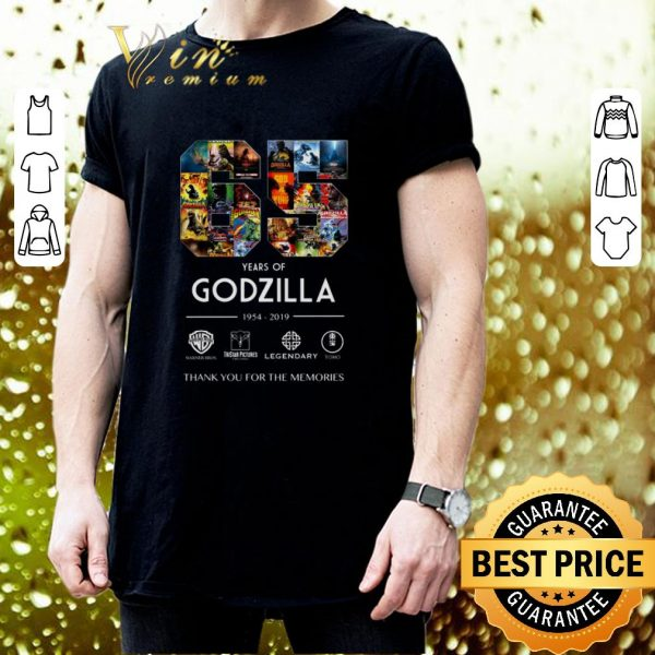 Best 65 years of Godzilla 1954-2019 thank you for the memories shirt
