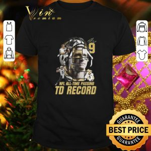 Best 9 Drew Brees signed passing to record 540 New Orleans Saints shirt