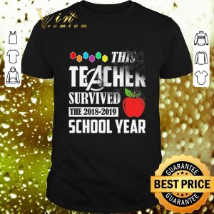 Best Avenger This teacher survived the 2018-2019 school year shirt