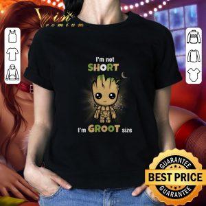 Best Baby Groot I'm not short I'm Groot size Marvel Avengers shirt