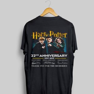 Harry Potter 22nd anniversary 1997 2019 thank you for the memories signatures sweater
