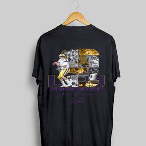 LSU Tigers 2019 Heisman Trophy winner Joe Burrow signature shirt