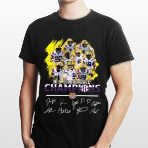Lsu Tigers Players 2019 Sec Football Champions signatures sweater