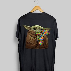 Master Yoda Hug Teddy Autism shirt
