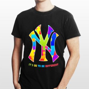 New York Yankees Autism It's ok to be different shirt