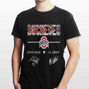 Ohio State Buckeyes Justin fields and Jk Dobbins signatures sweater