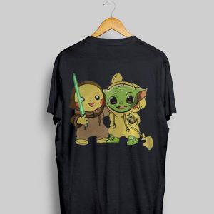 Pokemon Pikachu And Baby Yoda shirt