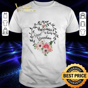 Pretty Flowers happiness is being a great grandma floral shirt