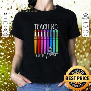 Pretty Pens teaching with flair shirt