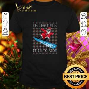 Pretty Santa Snowboard oh what fun it is to ride ugly Christmas sweater