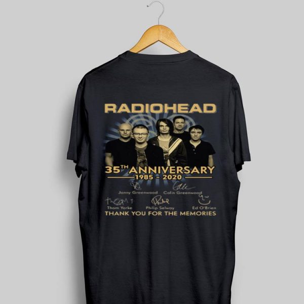 Radiohead 35th Anniversary 1985 2020 Thank You For The Memories shirt