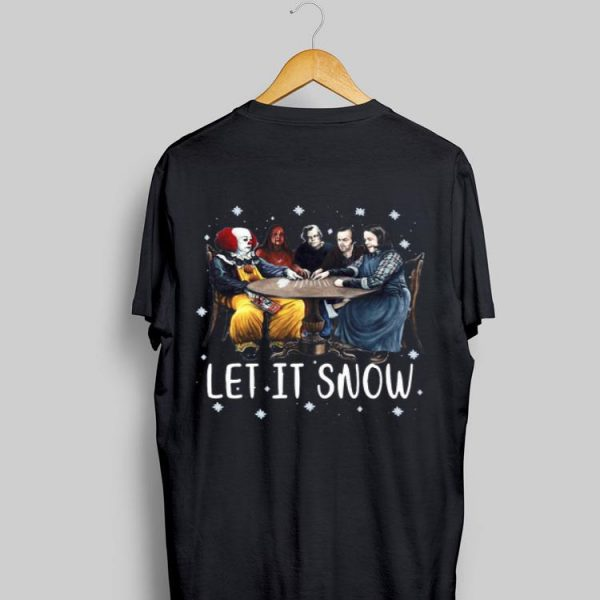 Stephen King Horror Friends Let It Snow sweater