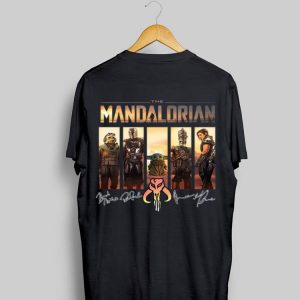 The Mandalorian Characters Signatures sweater