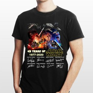 43 years of Star Wars 1977 2020 all signature characters shirt