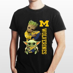 Baby Groot And Baby Yoda Hug Wolverines shirt