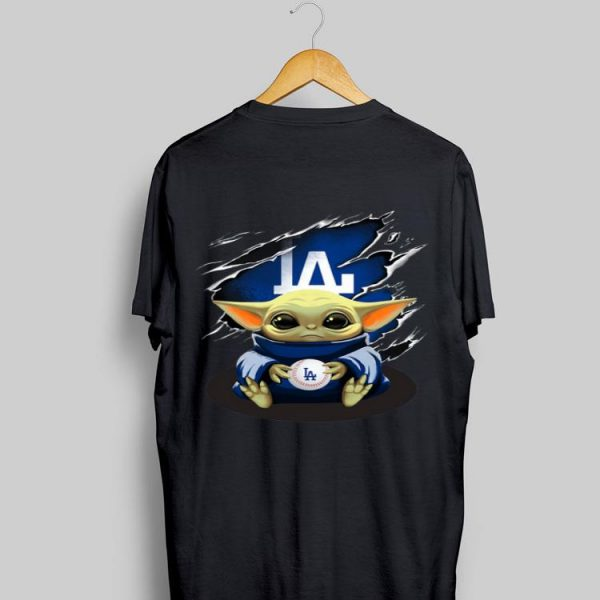 Baby Yoda Blood Inside Los Angeles Dodgers shirt
