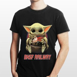 Baby Yoda Hug BNSF Railway shirt