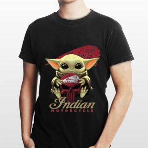 Baby Yoda Hug Indian Motorcycle shirt