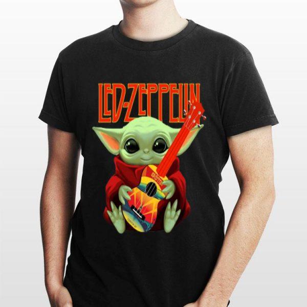 Baby Yoda Hug Led-zeppelin Guitar shirt