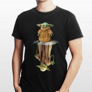 Baby Yoda water mirror reflection Master Yoda shirt