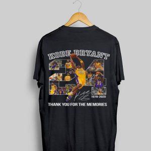 Kobe Bryant 24 1978 2020 Thank You For The Memories shirt