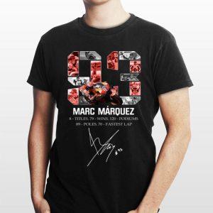 Marc Marquez 8 title 79 wins 120 podiums 89 poles 70 fastest lap Signature shirt