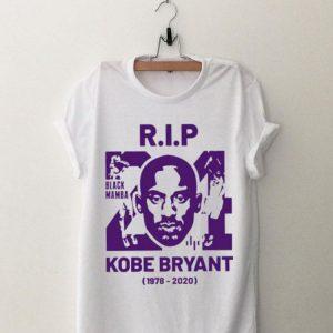 RIP 24 KOBE Bryant Black Mamba 1978-2020 shirt