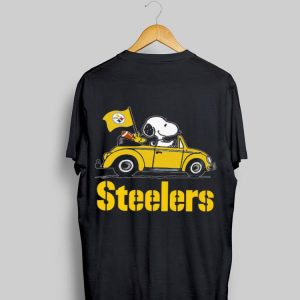 Snoopy Driving Volkswagen Pittsburgh Steelers shirt
