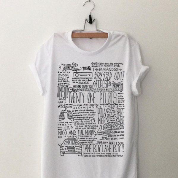 Twenty One Pilots Lane Boy Lyrics shirt