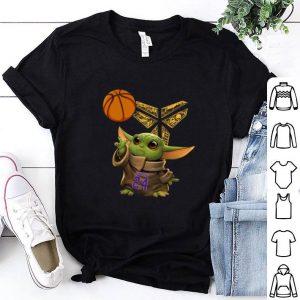 Awesome Baby Yoda 24 Kobe Bryant basketball Logo shirt