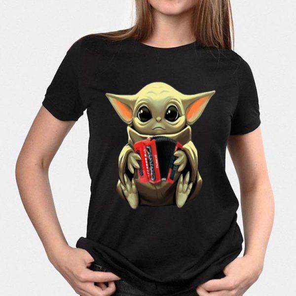 Baby Yoda Hug Accordion shirt