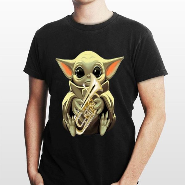 Baby Yoda Hug Euphonium shirt