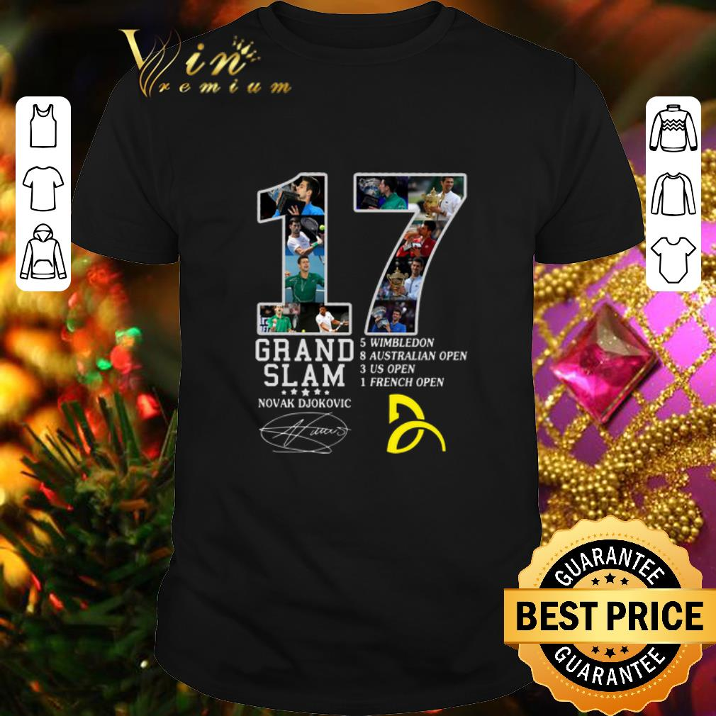 Best 17 Grand Slam Novak Djokovic Logo Signature Shirt Hoodie Sweater Longsleeve T Shirt