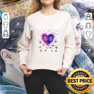 Best Love Minnesota Vikings and Minnesota Twins Tiny Hearts Shape shirt