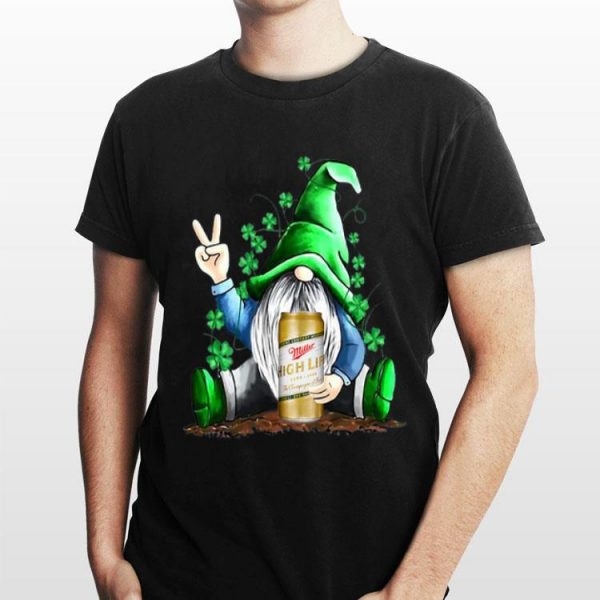 Gnomes Lucky Hug Miller High Life St Patrick's Day shirt