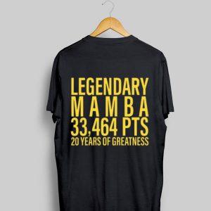 Legendary Mamba 33,464 PTS 20 years of greatness shirt