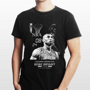 NBA 08 24 Legends never die Kobe Bryant 1978 2020 shirt