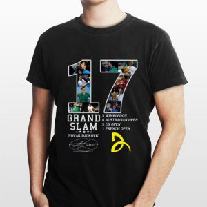 Novak Djokovic 17 Grand Slam Signatures shirt