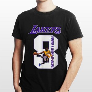 Rip Kobe Bryant number 8 forever a legend Lakers shirt