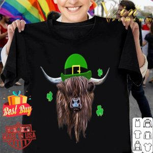 Scottish Highland Cow Saint Patrick's Day Derby Hat shirt