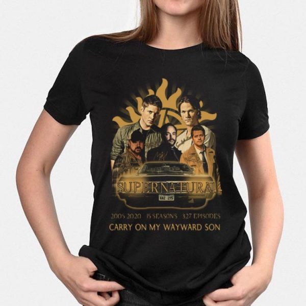 Supernatural 2005 2020 15 seasons Carry On My Wayward Son shirt