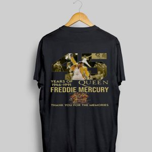 45 Years Of Queen 1946 1991 Freddie Mercury Thank You For The Memories Signature shirt