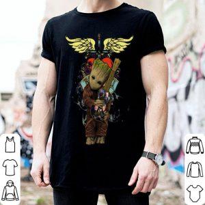 Baby Groot Hug Guitar Bon Jovi shirt