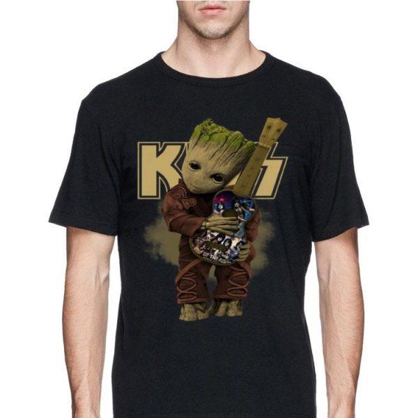 Baby Groot Hug Kiss Band Guitar shirt