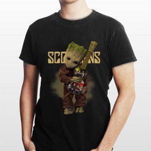 Baby Groot Hug Scorpions Guitar shirt
