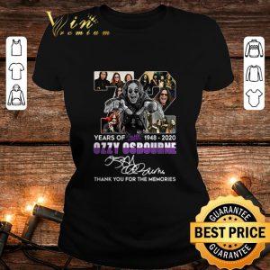 Best 72 Years of Black Sabbath 1948 2020 Ozzy Osbourne thank memories shirt