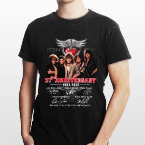 Bon Jovi 37th anniversary 1983 – 2020 thank you for the memories signatures shirt