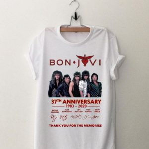 Bon Jovi 37th anniversary thank you for the memories signatures shirt