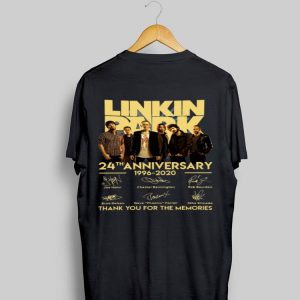 Linkin Park 24th Anniversary 1996-2020 Thank You For The Memories Signatures shirt