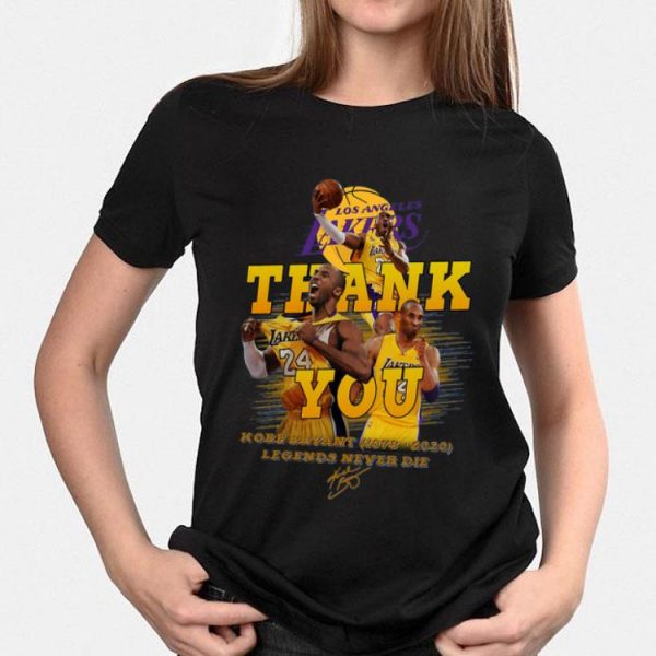 Los Angeles Lakers Thank You 24 Kobe Bryant (1978-2020) Signature Legends Never Die Signature shirt